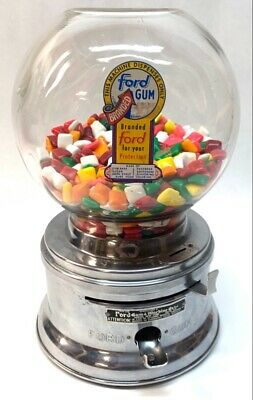 Vintage 1955 Ford Penny Gumball Machine w/OG Ford gum (HE1016352)