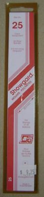 Showgard size 25 clear hingeless stamp mount NEW unopened pack 1st quality 215mm