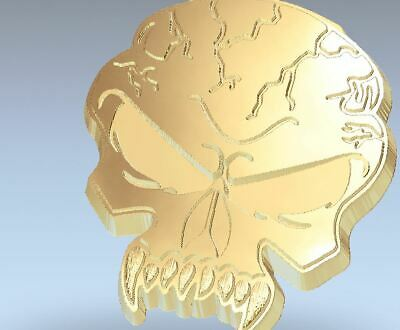 Skull Angry STL 3D Model for CNC work