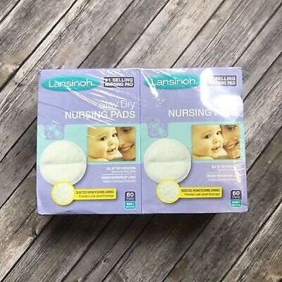 Lansinoh Nursing Pads Stay Dry Double Pack 2 60ct Boxes 120