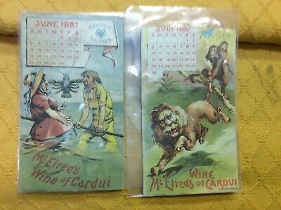 1887  McElree's Wine of Cardui  Set of 2 Medical Cards