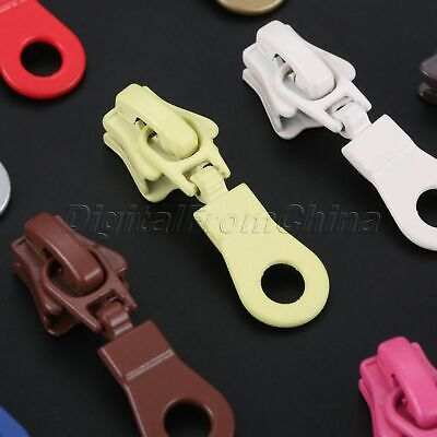 10Pcs 11Colors Zinc Alloy Zipper Sliders For Zipper Puller Head Zip Repair Bags