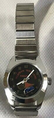 "RARE Western Maryland RR ""Fast Freight Wing Logo"" Ladies Wrist Watch (WORKS)"