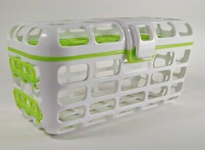 Munchkin Dishwasher Basket Baby Bottle Accessories Parts Nipples Green White