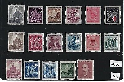 #4036 MH stamp set / Regular Postage / Third Reich Occupation BaM / WWII Germany