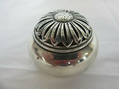 Antique Edwardian sterling silver pomander - William Comyns & Sons 1903 London