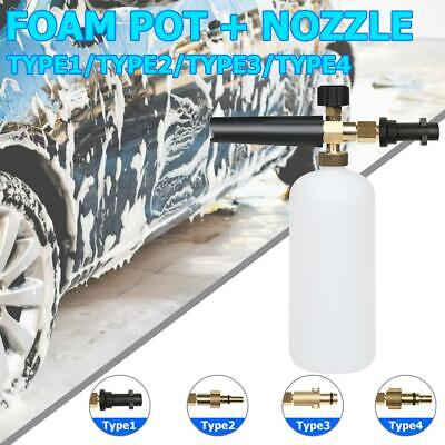 1L Snow Foam Lance Cannon Washer Gun Soap Pressure Car Foamer Wash Jet Bottle