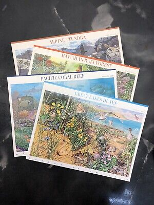 One Lot US Postage Stamps Nature Of America 4 Sheets $16.40 Face Value On Sale