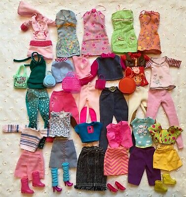Mixed Lot Barbie Doll Clothes Pants Dresses Toy Story & Horse Shirt