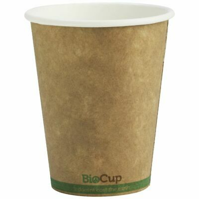 BioPak Single-wall Coffee Cups 8oz Kraft 1000 Box