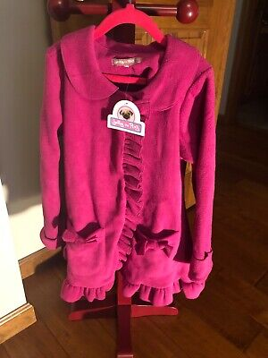 Jelly the Pug Coat with Ruffled Hem Girls size 6X NWT