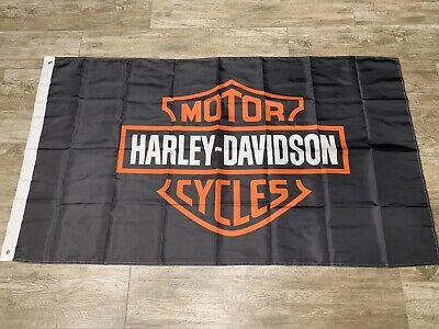 Harley Davidson Bar And Shield Flag Banner 3 X 5 ft with grommets