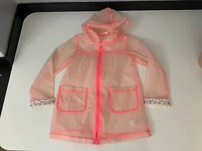 Billieblush Girls Raincoat, Size Age 8 Years, 126cm, Clear, VGC