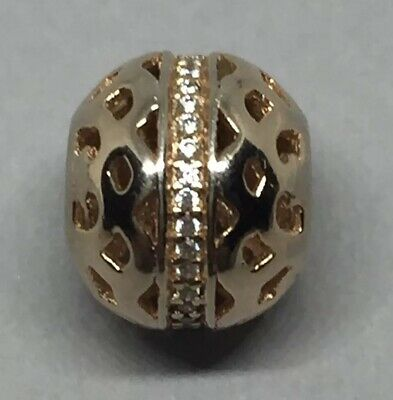 Genuine Rose Gold PANDORA Abstract Rose Gold Openwork CZ PAVE ALE R