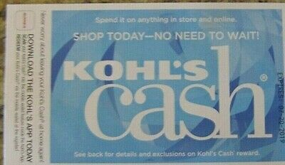 Kohl's Cash $219.99 Expires 7/19/2019 Email Delivery
