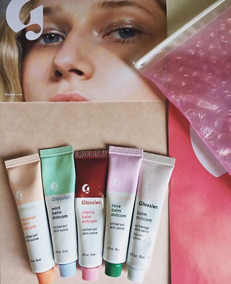 Glossier Balm Dotcom Universal Skin Salve Lips Cuticles elbows 0.5 fl oz / 15ml