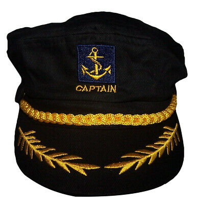 57e4299ffbf Boat Captain Sailor Yacht Skipper Nautical Anchor Adjustable Cap Hat 7501CB