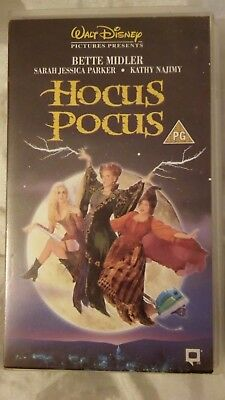 Hocus Pocus Video Vhs Pal Uk Walt Disney Bette Midler Sarah Jessica Parker