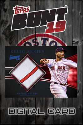 2019 RELIC SERIES RAFAEL DEVERS Topps Bunt Digital Card