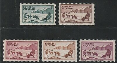 St Pierre & Miquelon - French Colonial - 4 Stamps Mnh & 1 Mh ( Spmi 826 )