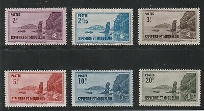 St Pierre & Miquelon - French Colonial- Set Of 2 Stamps Mnh & 4 Mh ( Spmi 825 )