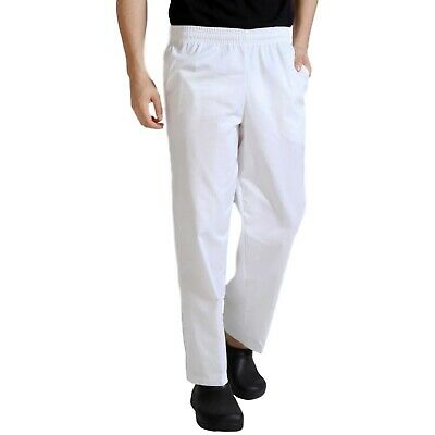 Worksense White Pants Trousers Painters Decorators Chef Kitchen with Pockets