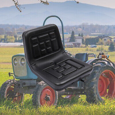 Waterproof Forklift Dumper Mower Tractor Seat w/ Rails Horizontally adjustable