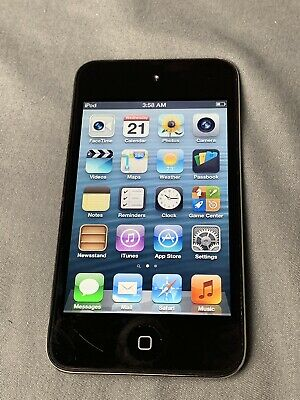 Apple iPod Touch 4th Gen. (A1367)-  Black-  8GB - Fully Functional