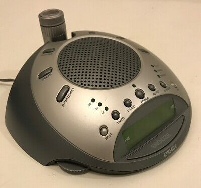 Homedics SS-4000 Sound Spa Time Projector Snooze Alarm Clock Radio Nature Relax