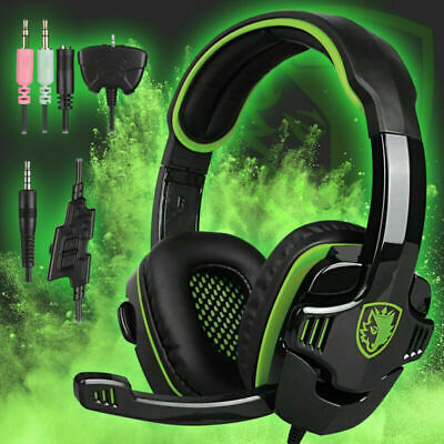 SADES Gaming Stereo Hi-Fi Headset Headphone 3.5mm Mic For PS4 Pro Xbox PC Laptop