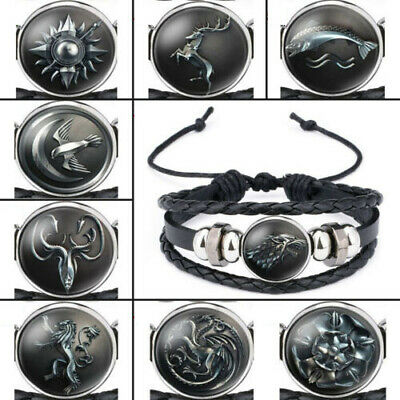 New Ethnic Fashion Leather Bracelets for Men Women Game of Thrones