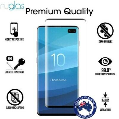 NUGLAS 3D Tempered Glass Screen Protector for Samsung Galaxy S10 S9 S8 Plus S10e