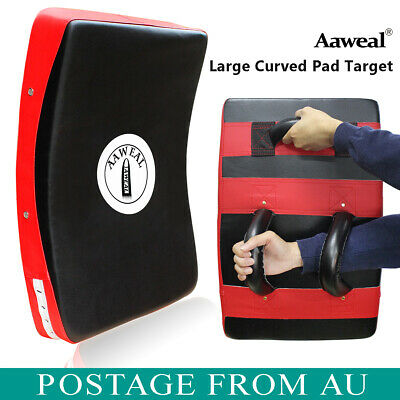 Aaweal Strike Kick Thai Pads Shield Focus Curved Muay Thai MMA Kicking Boxing