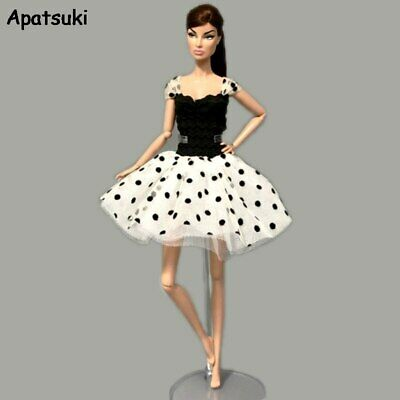 Polka Tutu Dress For Barbie Doll Clothes Fashion Outfits Party Dresses Clothes