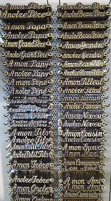 Inscription Bronze Pour Plaque Funeraire