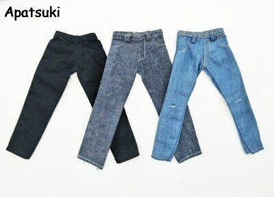 High Quality 1/6 Boy Doll Clothes Jeans Pants For Ken Boy Doll Trousers 1/6 Toy