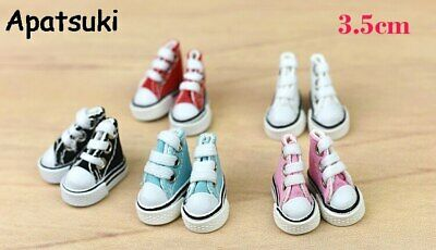 1Pair 3.5cm Fashion Canvas Shoes For Blythe Dolls Causal Shoes For Barbie Doll