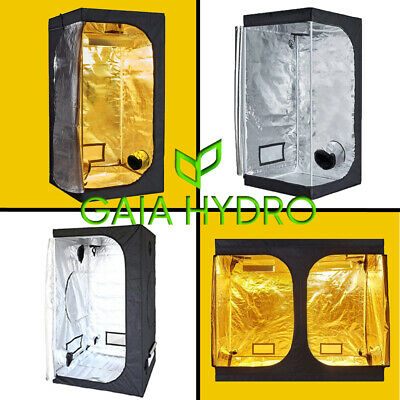 100% Reflective Indoor Grow Tent Room 600D Mylar Hydroponic Non Toxic Multi-Size