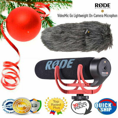 RODE VideoMic GO Cardioid Directional Microphone Camera Mic for Canon Nikon DSLR