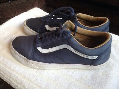 Vans Blue Suede Old School(9 UK)Trainers Mens Off The wall