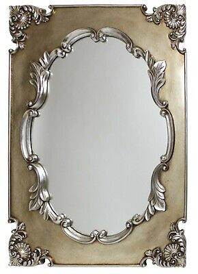 Extra Large Ornate Antique Grecian Champagne French Wall Mirror 76cm x 102cm