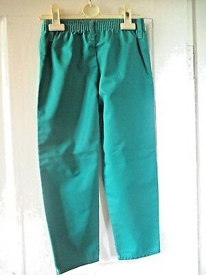 Girls Nice  Green Cotton Trousers Age  5-6 height 116 cm