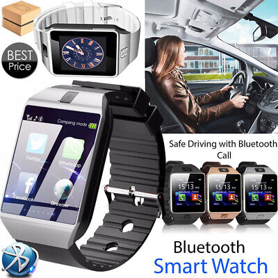 LATEST DZ09 Bluetooth Smart Watch For HTC Samsung Android Phone Camera SIM Slot