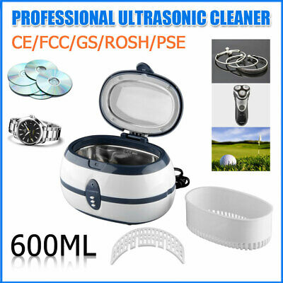 600ml Digital Stainless Ultrasonic Cleaner Bath Tank Timer Wash Cleaning Machine
