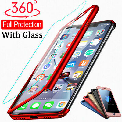 360° Cover For iPhone 11 Pro X XS Max XR 8 6 7 Plus Full Case + Tempered Glass