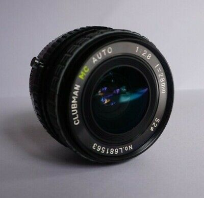 Olympus Clubman 28mm F2.8 OM Lens *GREAT CONDITION* Wide Angle Like Zuiko