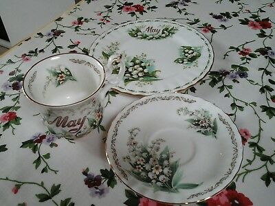 Royal albert flower of the month cup saucer & Tea-Plate, excellant condition .