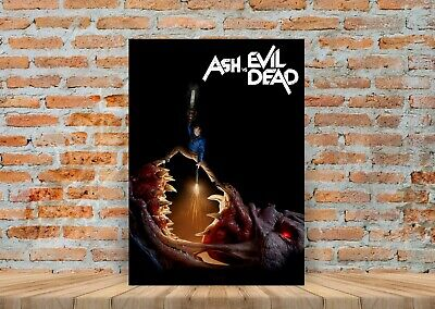 Ash Vs The Evil Dead TV Show Poster Canvas Art Print (Framed Option) - A3 A4