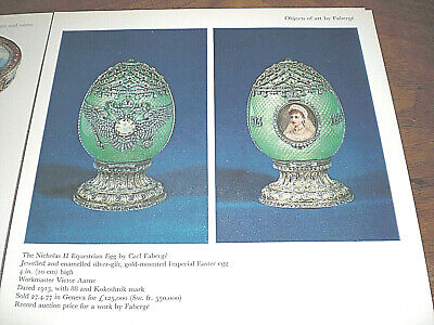 Vintage  Pictures  Of Fine  Antique  Faberge  &  Russian  Silver .  Interessant
