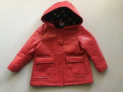 Seed Heritage Children's Red Coat Hooded Jacket Size 2-3  Lined EUC Girls